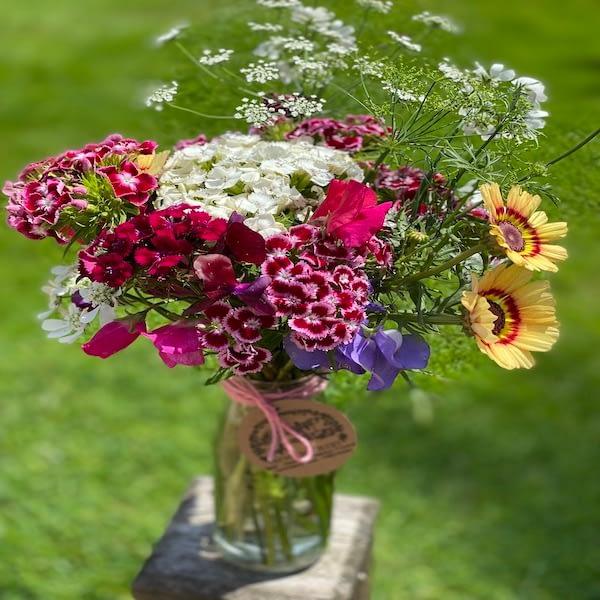 Jam Jar fresh flowers